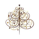 Christmas tree background, vector Stock Images