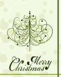 Christmas tree background, vector Royalty Free Stock Photo
