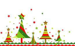 Christmas tree background, vector Royalty Free Stock Images