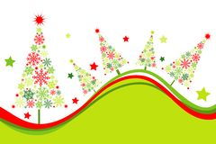 Christmas tree background, vector Royalty Free Stock Photography
