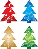 Christmas tree background, vector Royalty Free Stock Photos