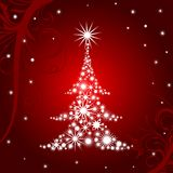 Christmas tree background, vector Stock Image