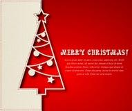 Christmas tree background. Vector illustration Christmas tree paper background. EPS 10 Stock Images