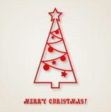 Christmas tree background. Vector illustration Christmas tree paper background. EPS 10 Stock Photos