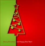 Christmas tree background. Vector illustration Christmas tree paper background. EPS 10 Stock Image
