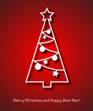 Christmas tree background. Vector illustration Christmas tree paper background. EPS 10 Royalty Free Stock Photography