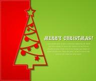 Christmas tree background. Vector illustration Christmas tree paper background. EPS 10 Stock Photo