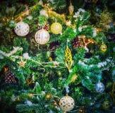Christmas tree background Vintage Card Design Royalty Free Stock Photos