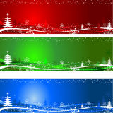 Christmas tree backgrounds. Different coloured decorative Christmas tree backgrounds Royalty Free Stock Images
