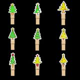 Christmas tree badge Royalty Free Stock Photography
