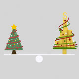 Christmas tree balance. 3D. Nn3D Custom illustration, contact me Stock Images