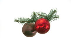 Christmas tree ball. On white background Royalty Free Stock Photo
