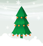 Christmas tree with ball Stock Photography