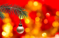 Christmas tree and ball Stock Images