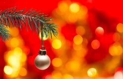 Christmas tree and ball Stock Images
