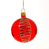 Christmas tree ball. Christmas tree decoration ball on white background Stock Photography