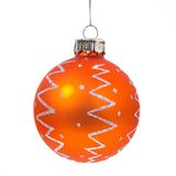 Christmas tree ball. Christmas tree decoration ball on white background Stock Photos