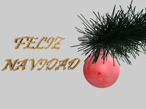 Christmas tree ball, 3d Stock Photo