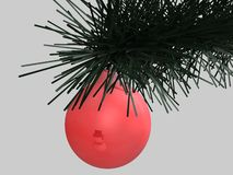 Christmas tree ball, 3d Royalty Free Stock Images