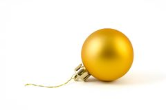 Christmas Tree Ball. An isolated Christmas tree decoration royalty free stock image