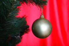 Christmas tree with ball Royalty Free Stock Photos