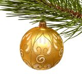 Christmas tree and ball Royalty Free Stock Photography