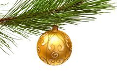 Christmas tree and ball Stock Photo
