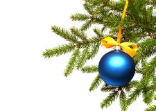 Christmas tree and ball Royalty Free Stock Photo