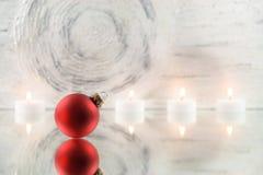 Christmas tree ball on mirror Stock Photo