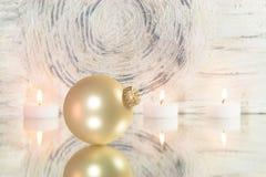 Christmas tree ball on mirror Royalty Free Stock Image