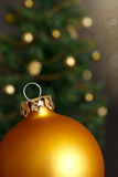 Christmas tree ball ornament gold Stock Photo