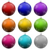 Christmas tree ball ornament set. Stock Photo