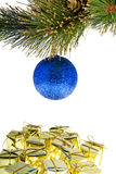 Christmas tree ball with presents Royalty Free Stock Images