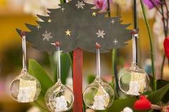 Christmas tree ball shaped toys royalty free stock photo