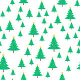 Christmas Tree with Ball and Star Seamless Pattern Royalty Free Stock Photo