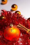 Christmas tree ball - weihnachtskugel Royalty Free Stock Photo