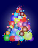 Christmas tree with balloons Stock Images