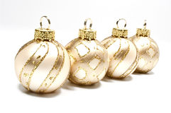 Christmas tree balls. Four christmas tree balls on white Stock Images