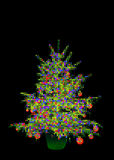 Christmas tree balls. A christmas tree with a lot of balls Stock Image