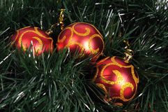 Christmas tree balls. Red christman tree balls, merry cristmas Stock Photography