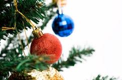 Christmas tree with balls Stock Photography