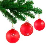 Christmas tree and balls Royalty Free Stock Images