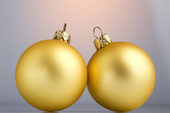 Christmas-tree balls. Christmas-tree decoration: two elegant Royalty Free Stock Photography