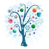 Christmas tree with balls royalty free illustration