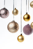 Christmas tree balls. Shiny christmas tree balls isolated Royalty Free Stock Photo