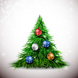 Christmas tree with balls Stock Photo