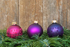 Christmas tree balls Stock Images