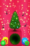 Christmas tree with balls Royalty Free Stock Photo