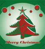 Christmas tree. With christmas balls Stock Images