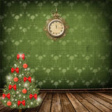 Christmas tree with balls and bows royalty free illustration